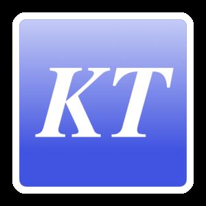 Logo KT pastel bleu