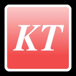 Logo KT pastel rouge